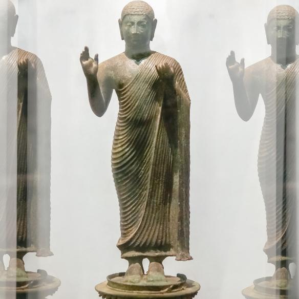 bronze standing Buddha figure from Kurunegala