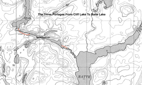 Cliff lake  -Bad Medicine Lake Portages