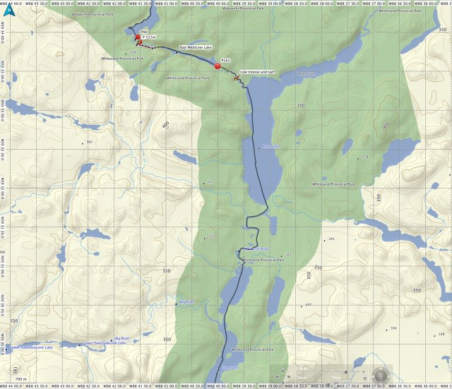 Cliff Lake to Gort lake