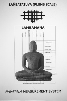 Navatala Plumb Scale System used to create seated Buddha figure