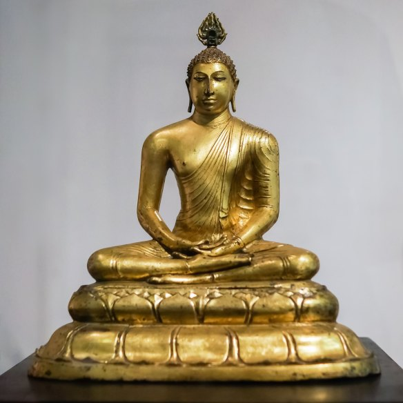 Seated Buddha from Veheragala near Anuradhapura - 9th C C.E.