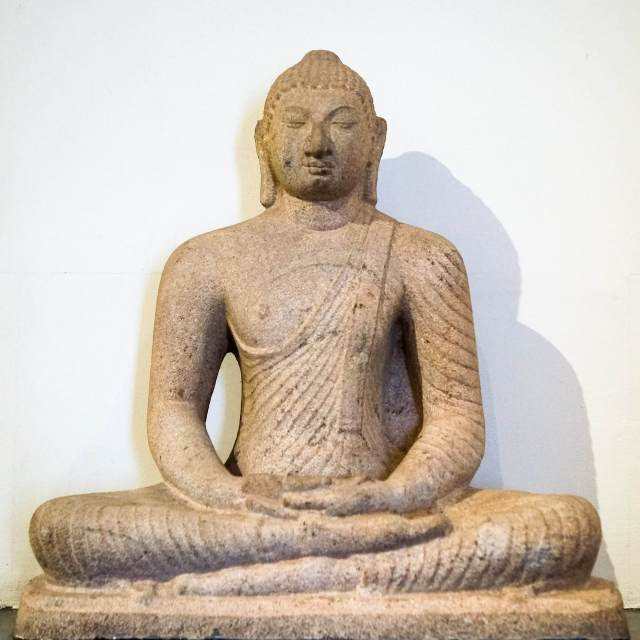 seated Buddha in meditation posture - Polonnaruwa 12th C C.E.