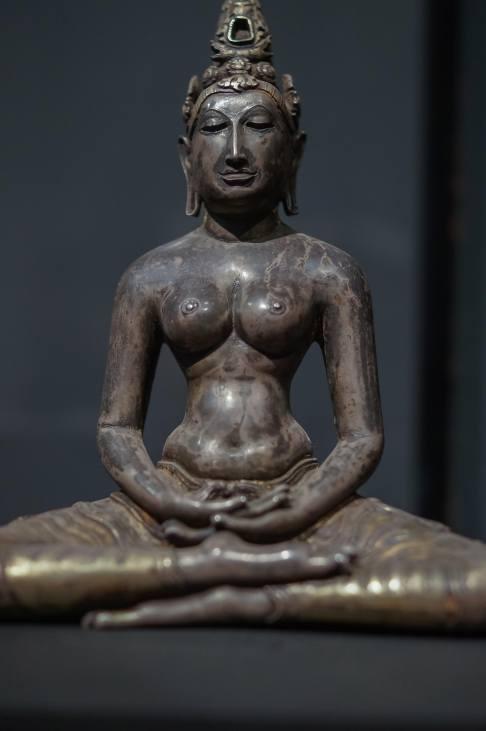 silver cast Tara figure- 700's - 800's C.E.