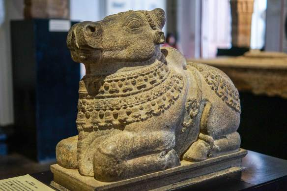 stone sculpture of Nandi