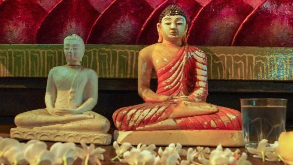 two small Buddhas in Dhyana (