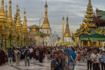 11. dusk approaches at Shwedagon