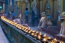 12. Shwedagon candles at dusk