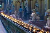 12. Shwedagon candles at dusk