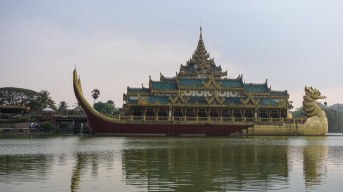 22. Karaweik Palace - and dinner show venue- on Kandawgyi Lake