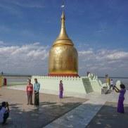 29. posing in front of the Bupaya in Bagan