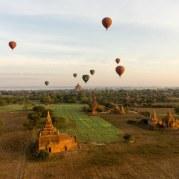 36. aerial view of Bagan's pagodas
