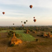 36. aerial view of Bagan's pagodas