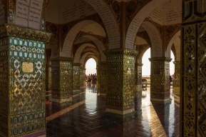 46. Mandalay Hill Pagoda - the interior arches