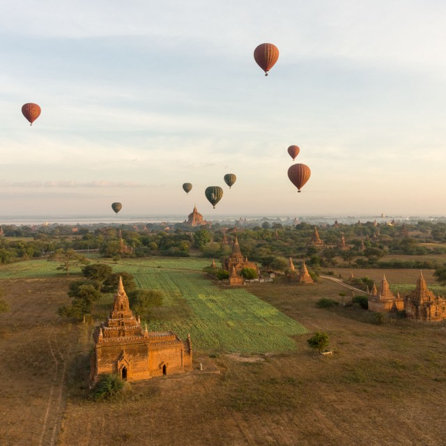 Bagan morning scene from our balloon