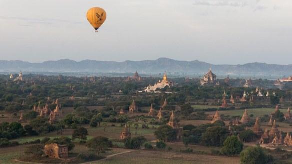 morning balloon ride over the stupas of Bagan