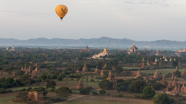 morning balloon ride over the stupas of Bagan