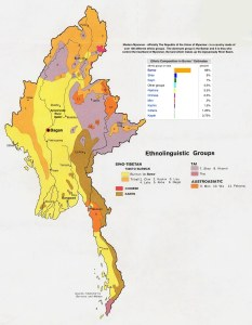 Myanmar Ethnic Groups and general location