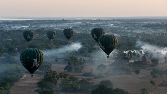 the green balloons of Oriental Ballooning