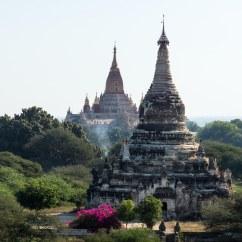 two of Bagan's 2000+ stupas and pagodas