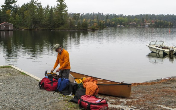 put-in end of the Lake Temagami Access Road