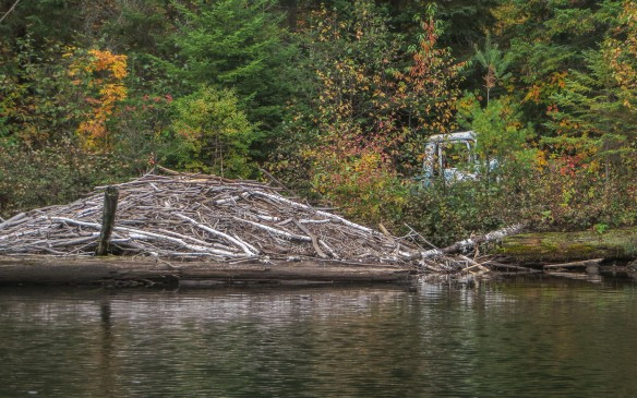 04. abandoned 1940's truck shell at east end of Obabika Inlet portage