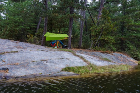 Chee-skon campsite on the north end point