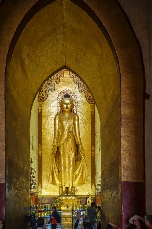 another of the four wooden Buddha statues at Bagan's Ananda Temple