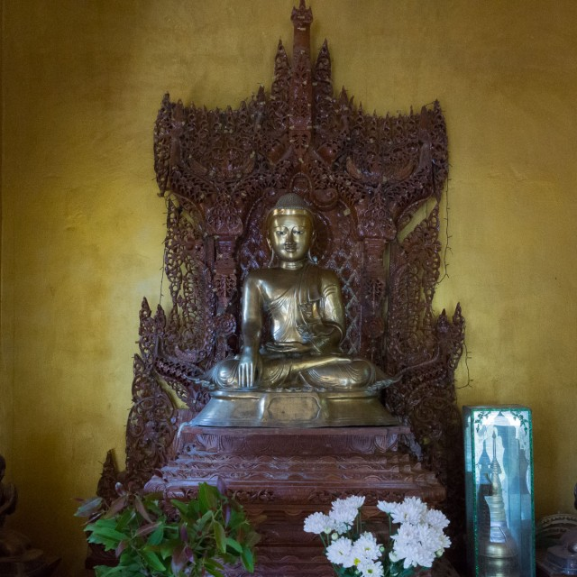 Bagan - bronze seated Buddha