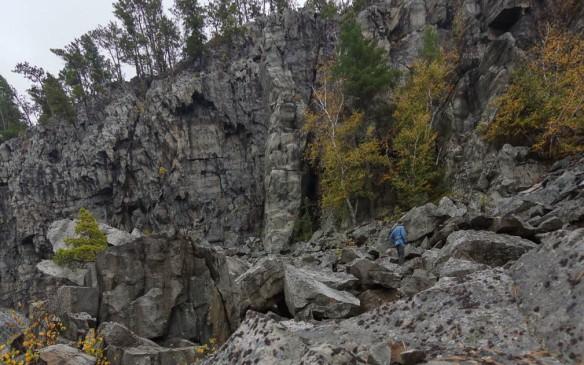 Conjuring Rock - the granite pillar on Chee Skon Lake