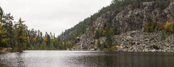 north end of Chee-skon Lake and the face of Conjuring Rock