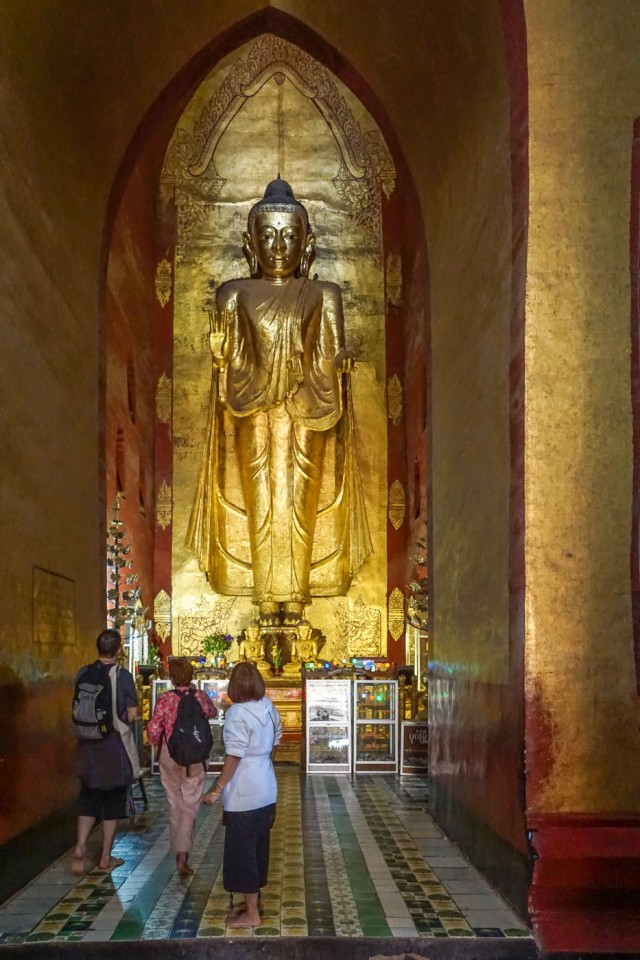 one of Ananda Temple's four standing Buddha statues