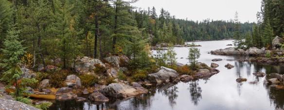 panorama of Diamond Lake to Lain take out