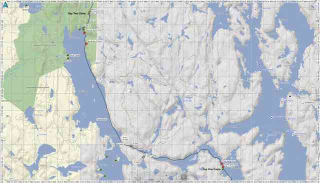 Temagami - Day Two Route