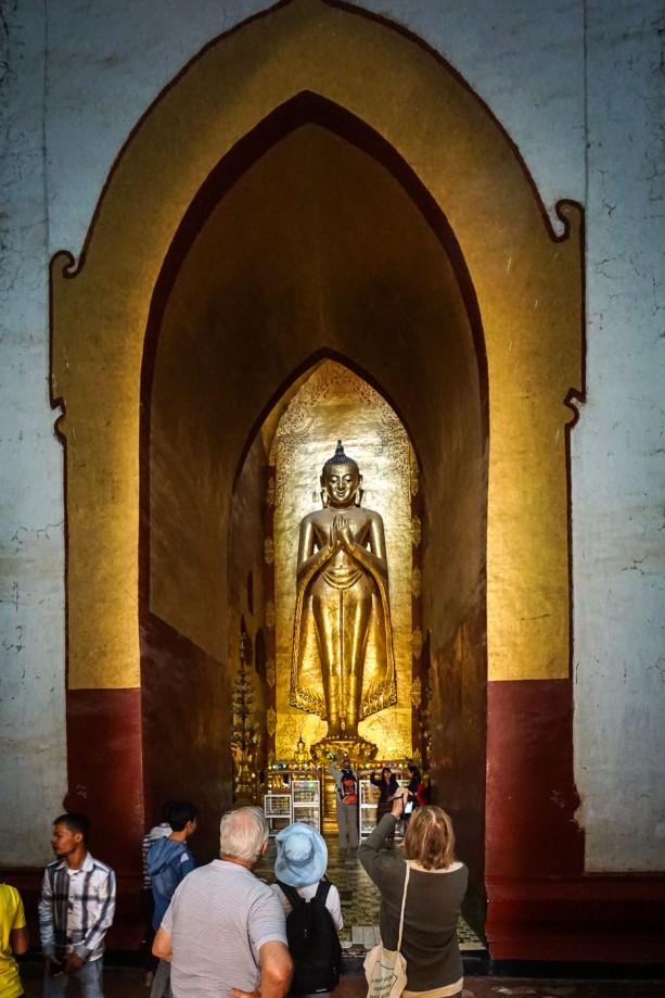 third of four Bagan Ananda Buddhas