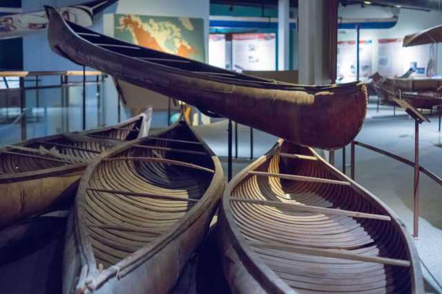 1880's Maliseet - Penobscot birch bark canoes