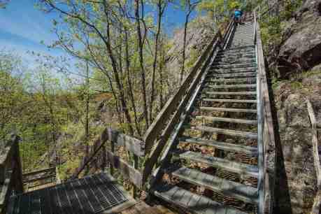 a few flights of steps to deal with on the way to cliff top