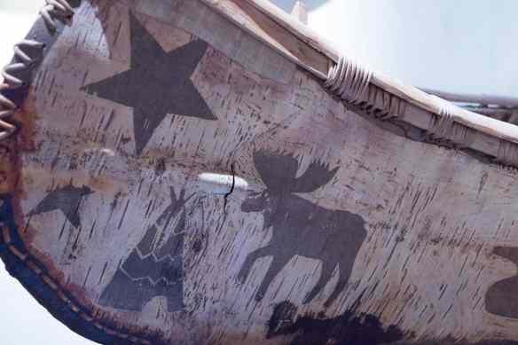 birch bark canoe detail decoration