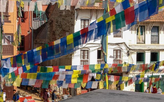 Bodhnath prayer flags