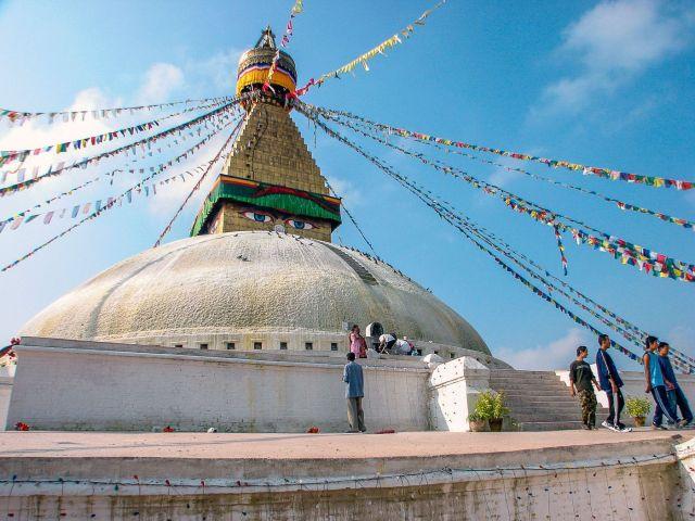 Bodhnath stupa peak