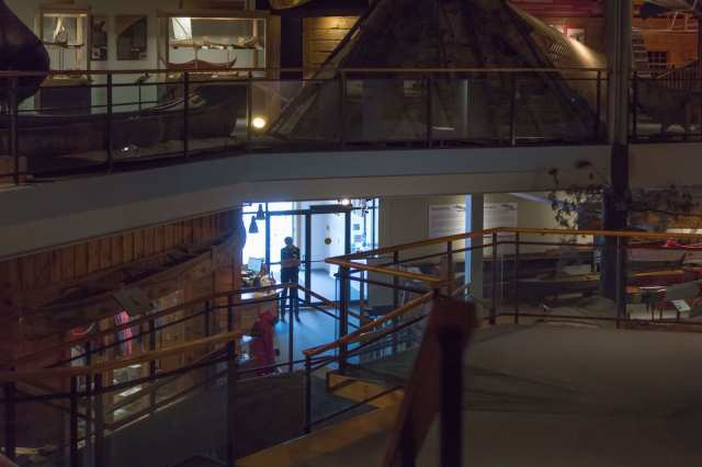 Canadian Canoe Museum entrance view from second floor