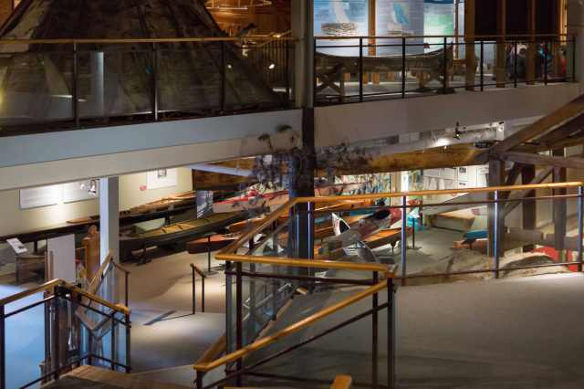 Canoe Museum ground floor entrance view