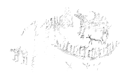 Dewdney's sketch of Mazinaw's Face II