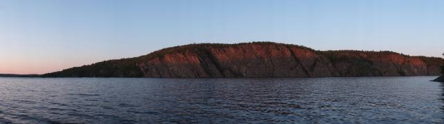 dusk view of Mazinaw Rock