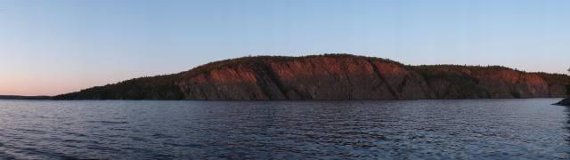 dusk view of Mazinaw Rock