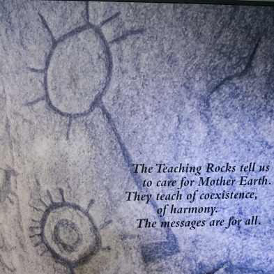 From careful mystery to clear message - the teaching rocks speak to us