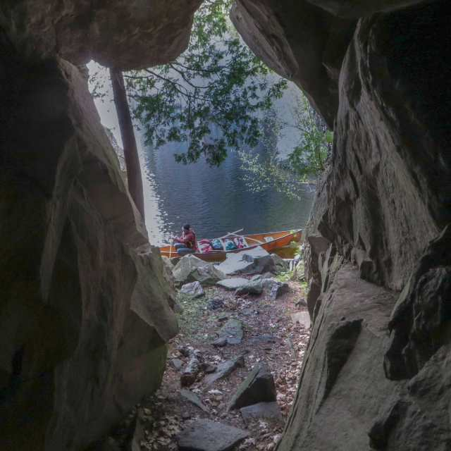 from Inside Turtle Rock Cave