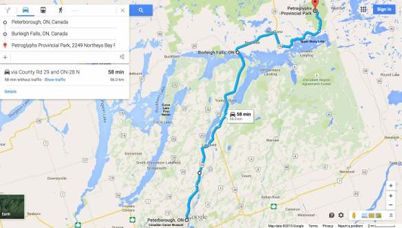 From Peterborough to Petroglyphs Provincial Park