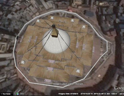 Google 3-D model of Boudhanath Stupa