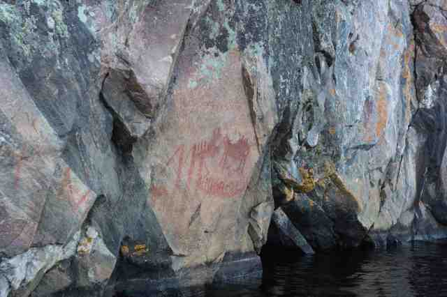 Mazinaw Rock - the Mishzupeshu face (Dewdney's Face II)