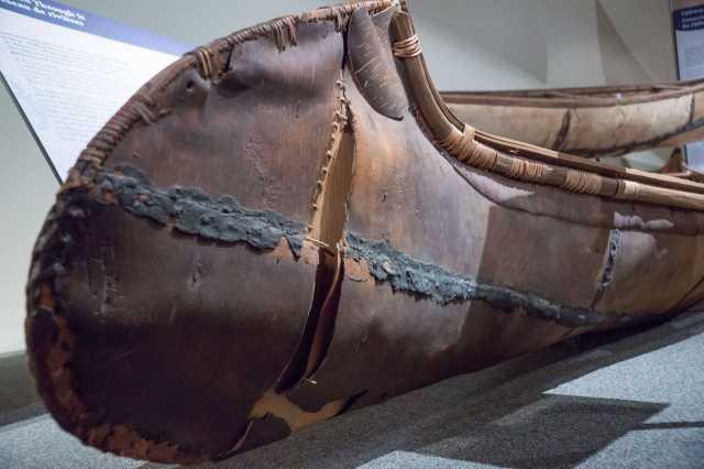 ojibway-style birch bark canoe